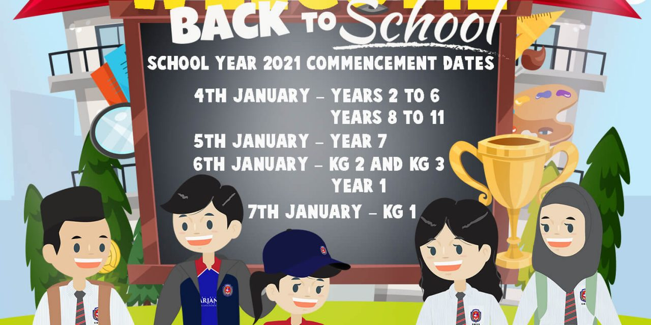 Welcome back to school 2021